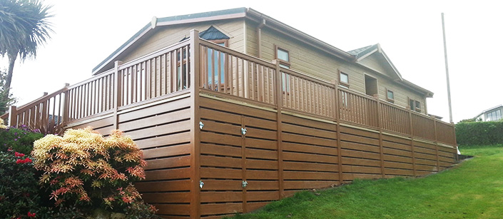 Caravan, Lodge & Holiday Home decking