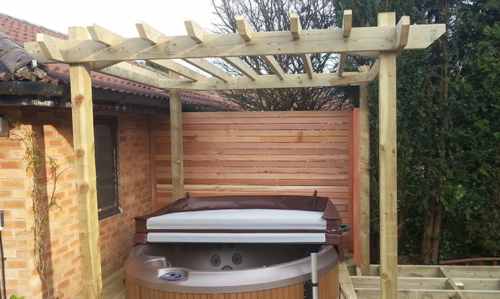 Pergolas and Hot Tub areas Leigh, Lancashire, Greater Manchester